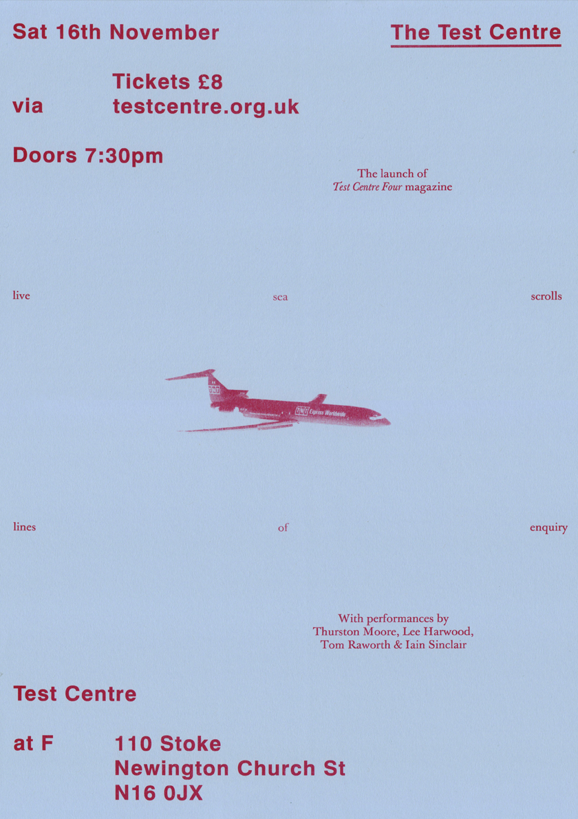 Test Centre Four Magazine launch poster
