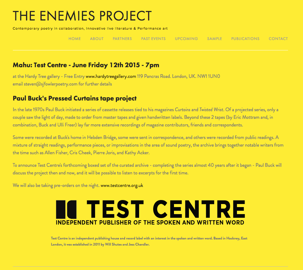 The Enemies Project