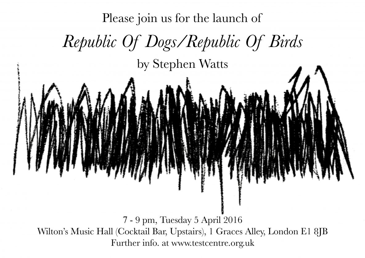 Republic of Dogs Republic of Birds launch flyer