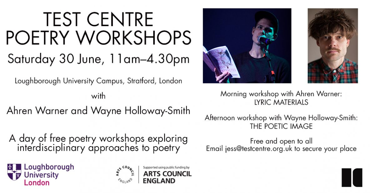 Test Centre Poetry Workshops Flyer